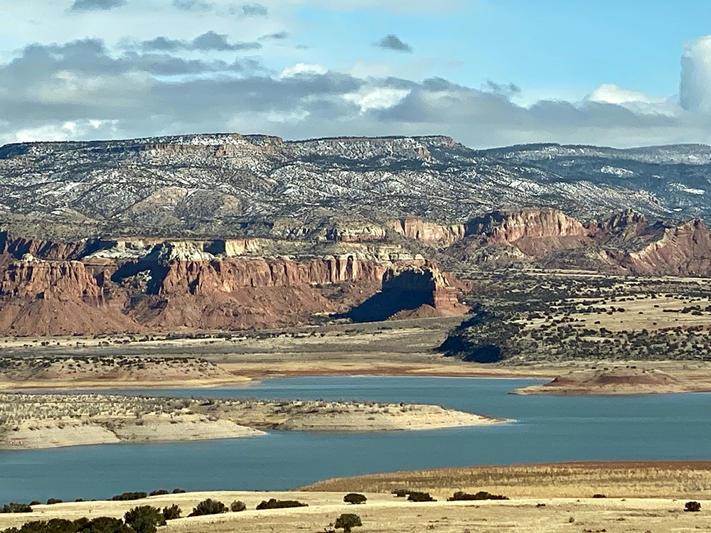 Abiquiú Lake from the Mesa Top