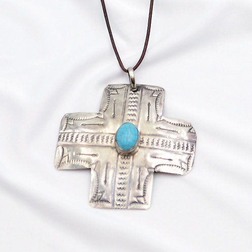Necklace - New Mexico Cross Pendant