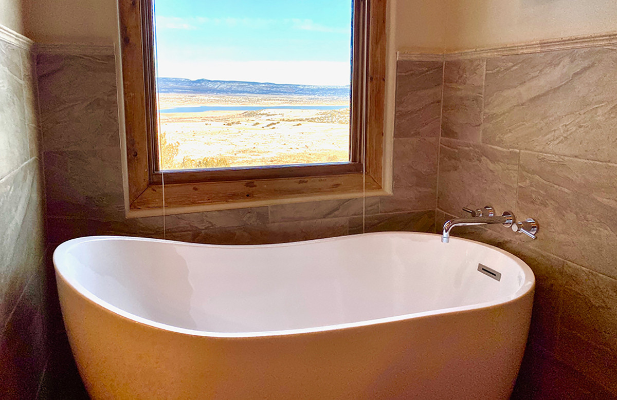 The Grand Hacienda Chama Ensuite Soaking Tub