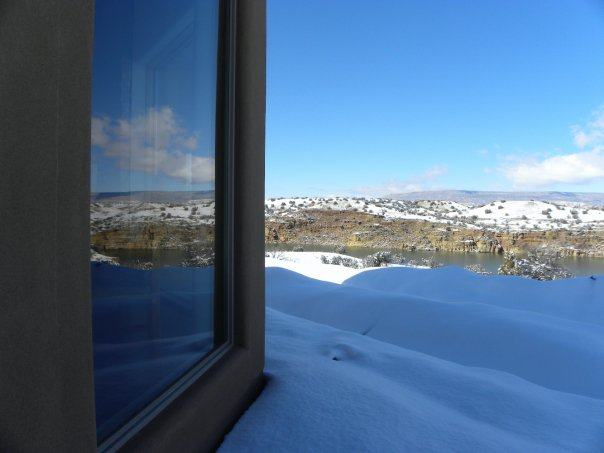 The Casita del Lago Winter View