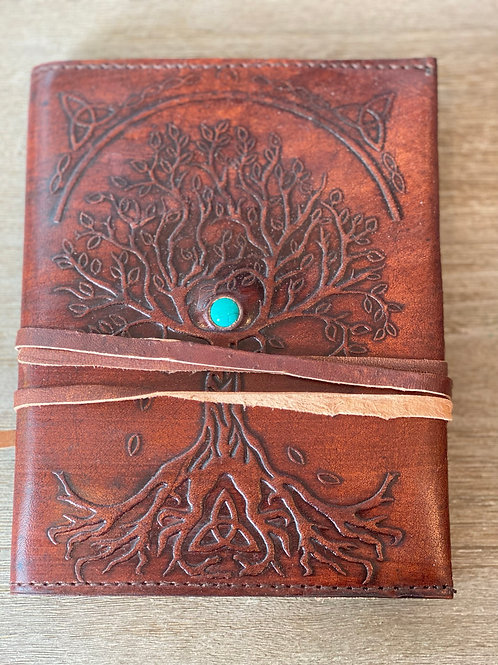 Journal  - Tree of Life Leather, Blank Pages