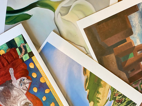 Greeting Cards: blank, birthday, anniversary, O'Keeffe, and holidays