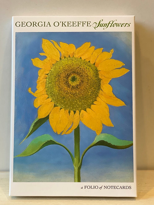 Note Cards - O'Keeffe Sunflowers