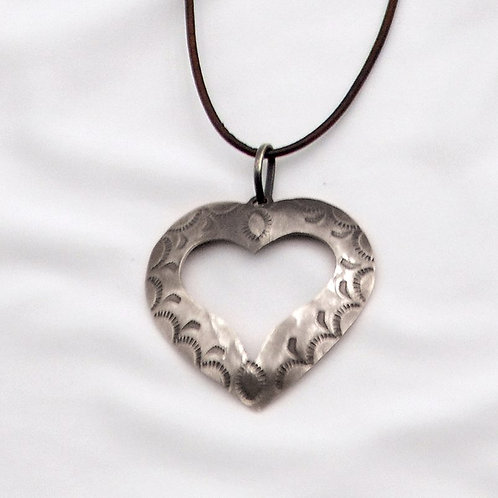 Necklace - Stamped Heart
