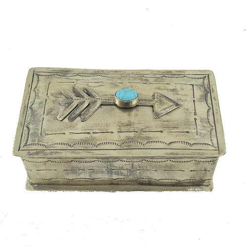 Box - Silver Arrow Box with Turquoise