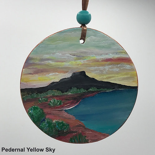 Hand Painted Circle Disk Plaque Ornaments