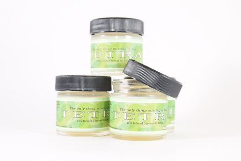 THC Infused Coconut Oil Salve - Tetra