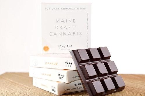 90mg THC Sundae Driver Hybrid 70% Orange Dark Chocolate - Maine Craft Cannabis