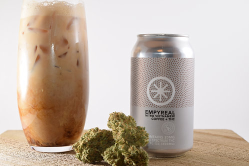 100mg THC Coffee - Nitro Infused Vietnamese Coffee - Empyreal Beverages