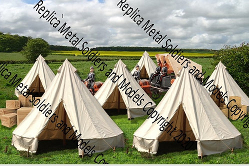 BD8.Bell Tent with Wagon Backdrop