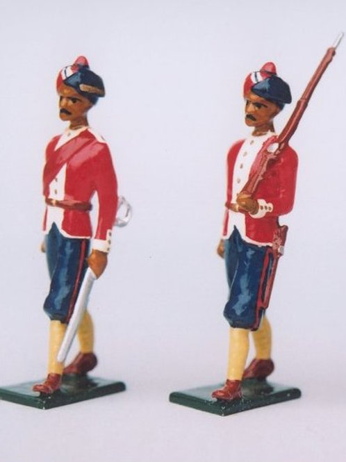 INDIAN ARMY SET 19. 1st Madras Native infantry (Pioneers)