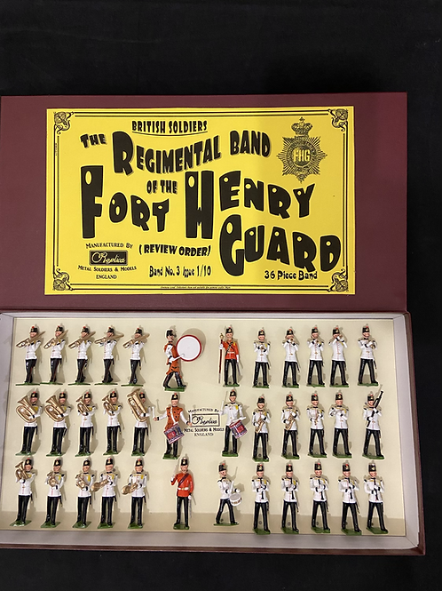 Painted Band 3.   Fort Henry Guard . Choice of 12- 36 Piece band