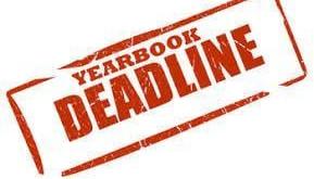 MCHS Yearbook Deadline