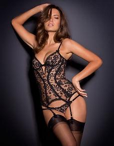 basque bustier chemise corselette