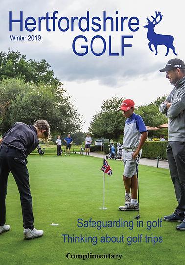 Hertfordshire Golf Winter 2019 Front Pag