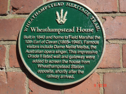 Wheathampstead House Plaque