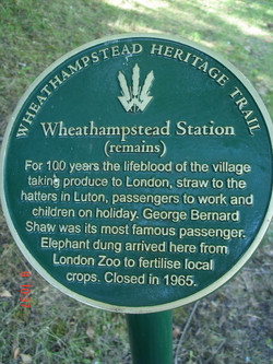 Wheathampstead Station Plaque