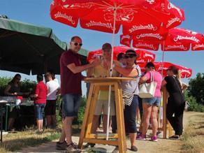 Sonnige Neu-Eröffnung des Brunner Weinwanderwegs