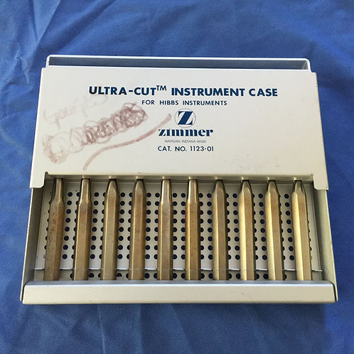 Zimmer (1123-01) Ultra Cut Instruments w/ Case
