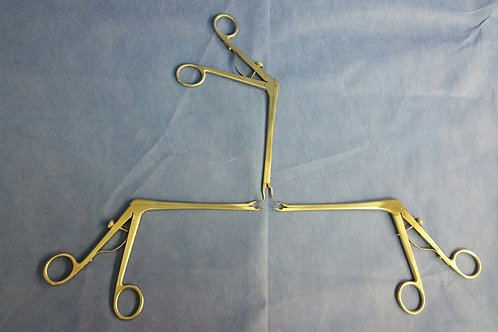 Lot of 3, Codman Clip Applier Forceps, L/R/Straight, USA Stainless
