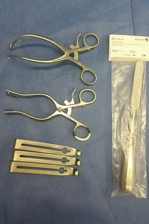 Lot of 6, Jarit Retractors & Bone File