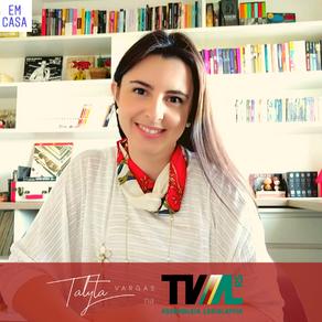 "Talyta Vargas no Programa ""Mateadas"" da TV-AL/RS, com Maria Luiza Benites"