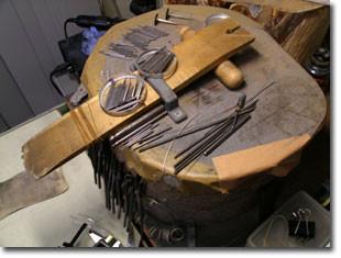 すり板 on the 木台