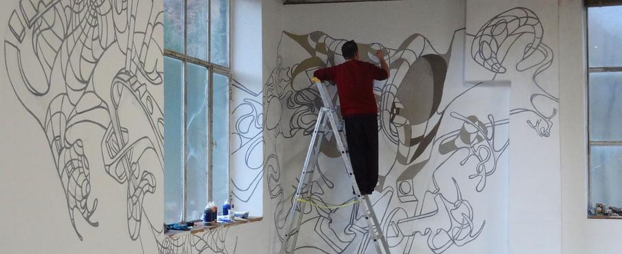 David Roncada en plein travail