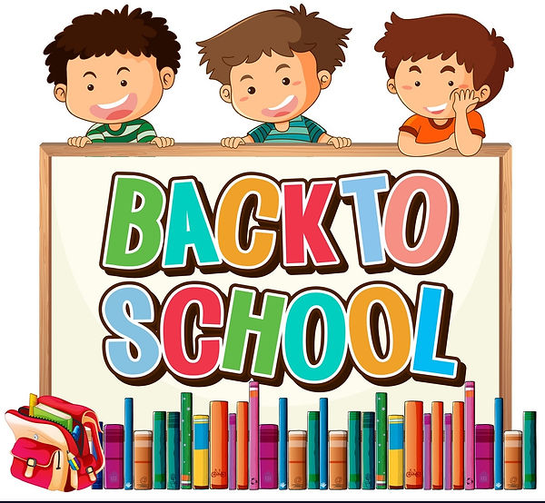 back-to-school-template-with-boys-vector