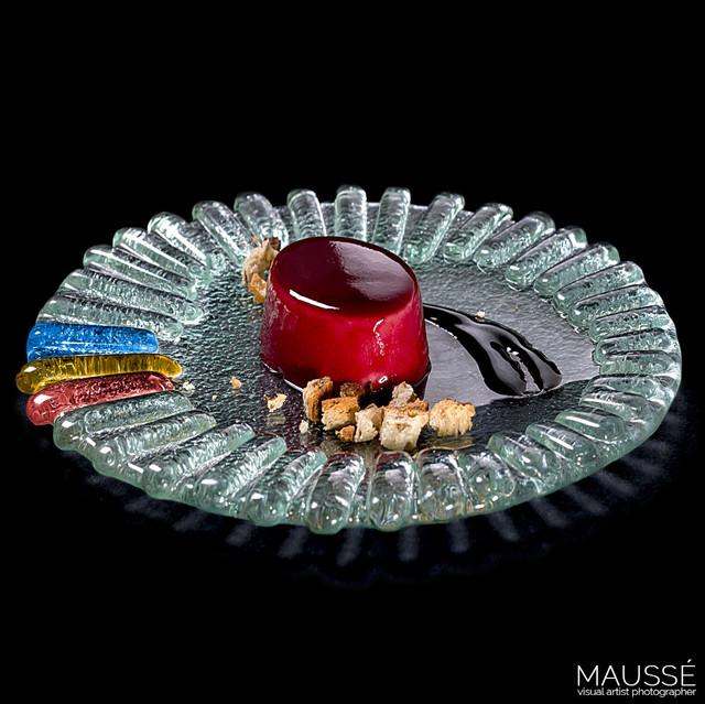 Mousse de frutos rojos.