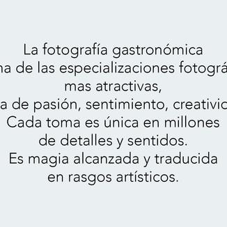 La fotografía gastronómica