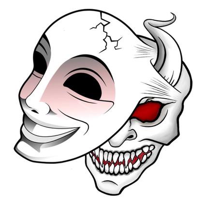 Happy Mask Tattoo