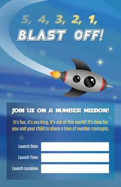 BLAST OFF NUMBERS POSTER