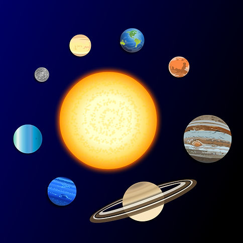 Digital illustration of the planets
