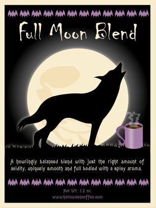 Full moon coffee label