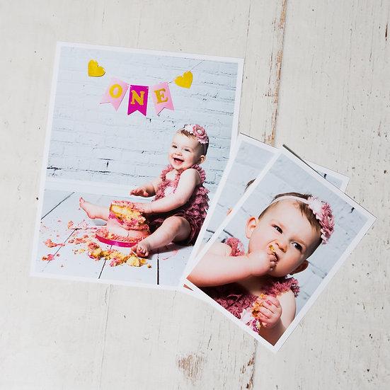 Cake Smash Photo Shoot + Prints