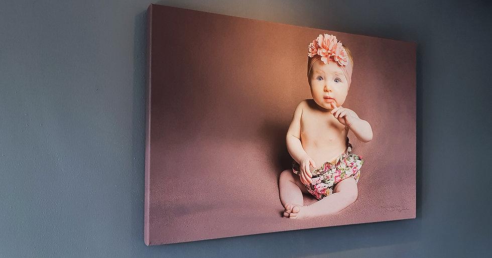 Baby Photo Shoot + Canvas + Print