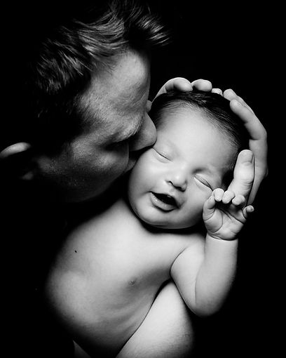newborn baby and father photo shoot