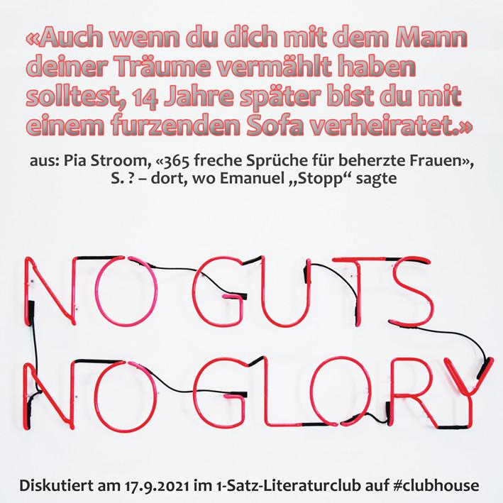 1-Satz-Literaturclub 1SLC Lakritza Judith Niederberger Pia Stroom 365 freche Sprüche für beherzte Frauen Roseanne Barr
