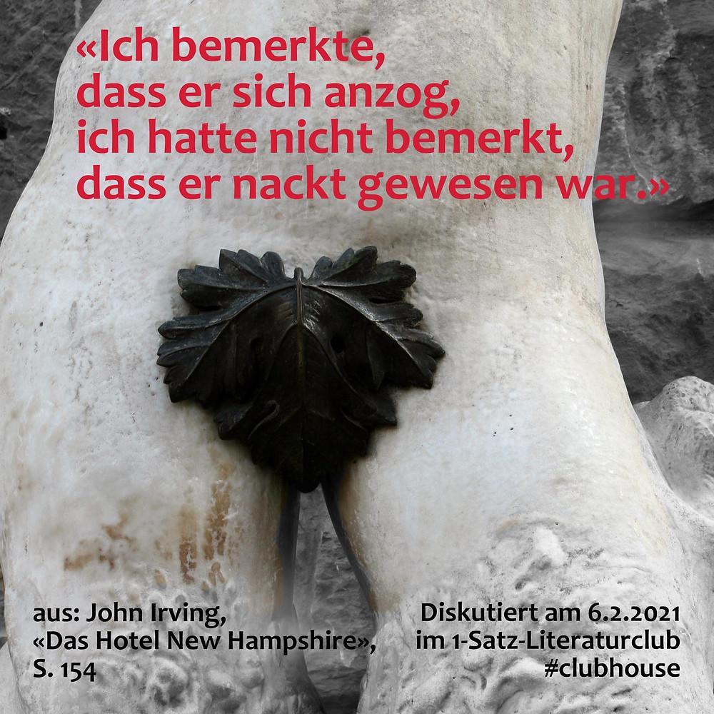 1-Satz-Literaturclub Lakritza Judith Niederberger John Irving Das Hotel New Hampshire