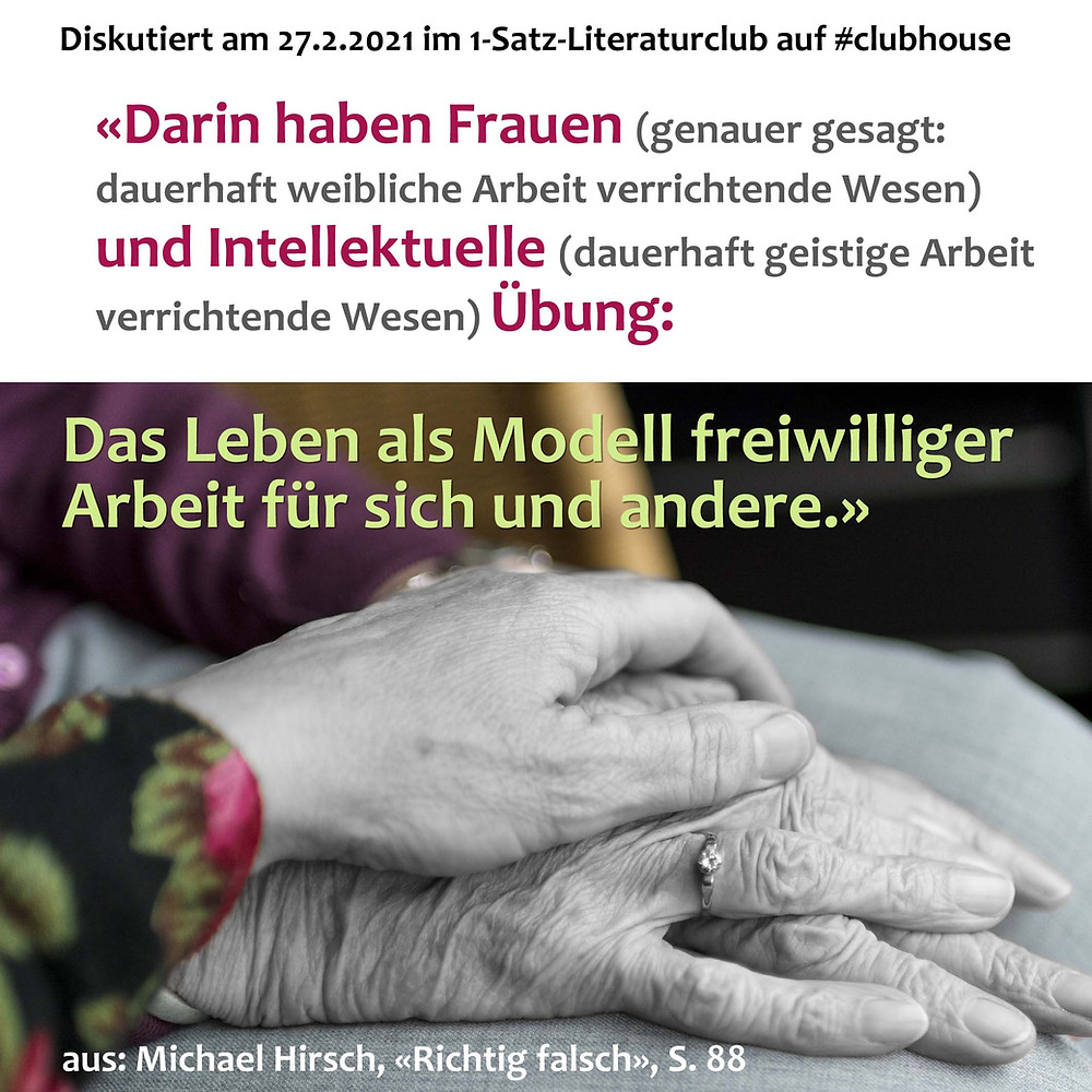 1-Satz-Literaturclub Lakritza Judith Niederberger Michael Hirsch Richtig falsch