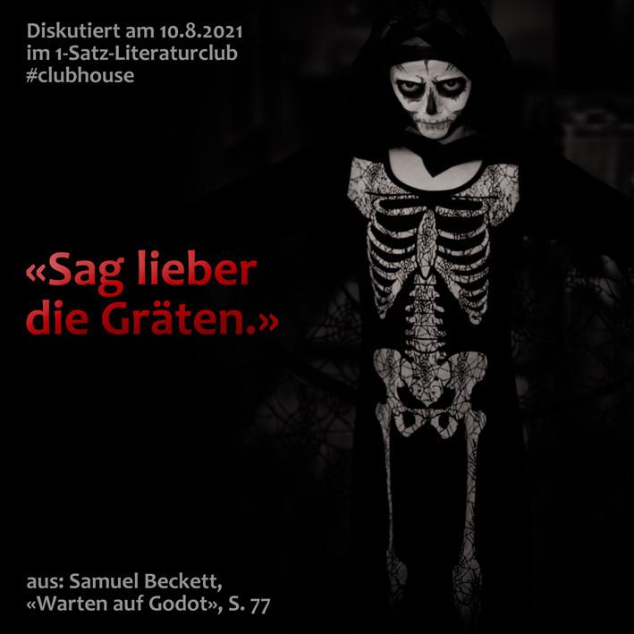 1-Satz-Literaturclub 1SLC Lakritza Judith Niederberger Samuel Beckett Warten auf Godot