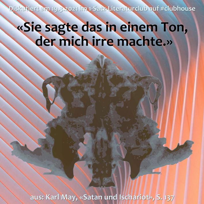 1-Satz-Literaturclub Lakritza Judith Niederberger Karl May Satan und Ischariot