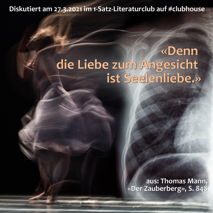 1-Satz-Literaturclub Clubhouse Lakritza Judith Niederberger Thomas Mann Zauberberg