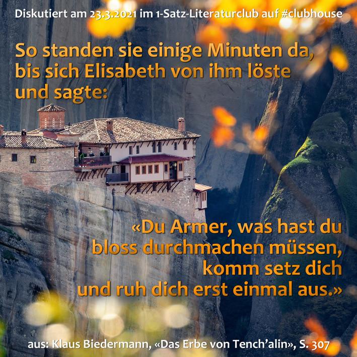 1-Satz-Literaturclub Lakritza Judith Niederberger Klaus Biedermann Das Erbe von Tench'alin