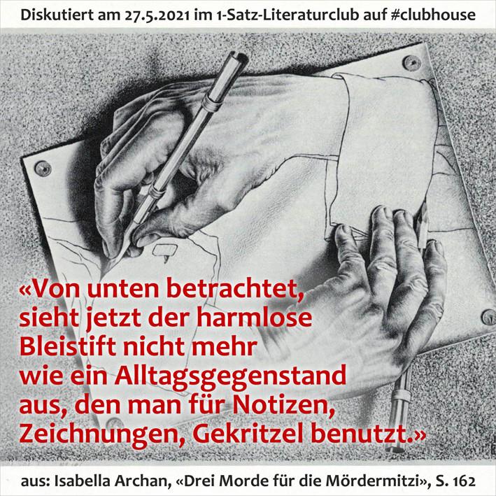 1-Satz-Literaturclub Lakritza Judith Niederberger Isabella Archan Drei Morde für die Mördermitzi