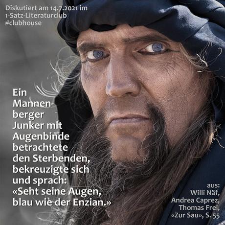 """""""Ein Mannenberger Junker mit Augenbinde betrachtete den Sterbenden, bekreuzigte sich ..."""