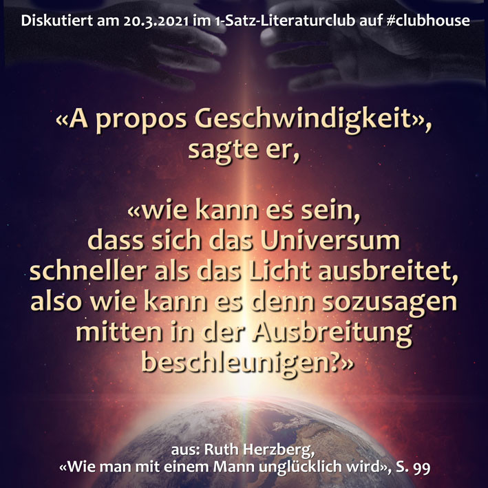 1-Satz-Literaturclub Lakritza Judith Niederberger Ruth Herzberg Wie man mit einem Mann unglücklich wird