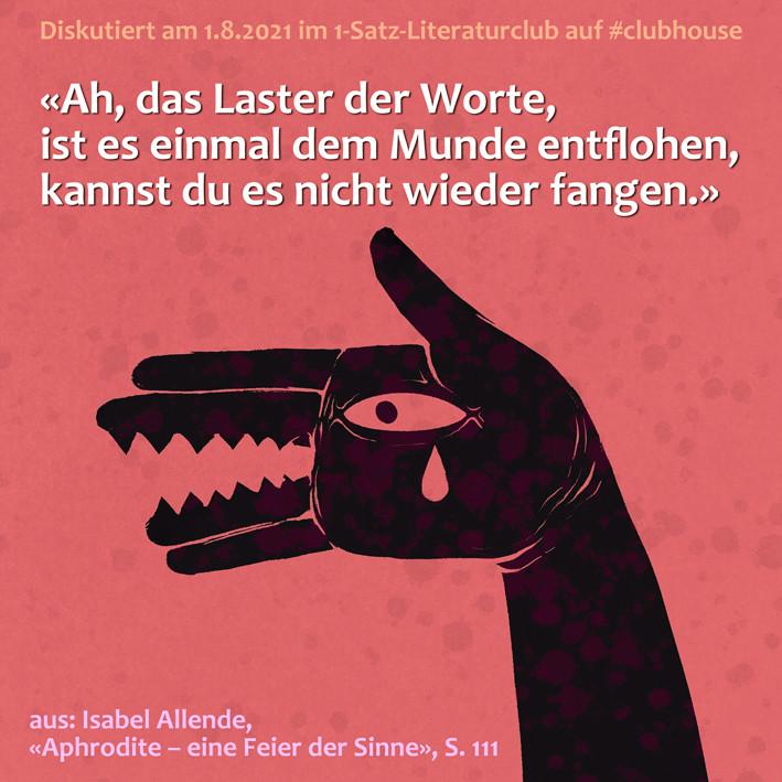 1-Satz-Literaturclub 1SLC Lakritza Judith Niederberger Isabel Allende Aphrodite eine Feier der Sinne
