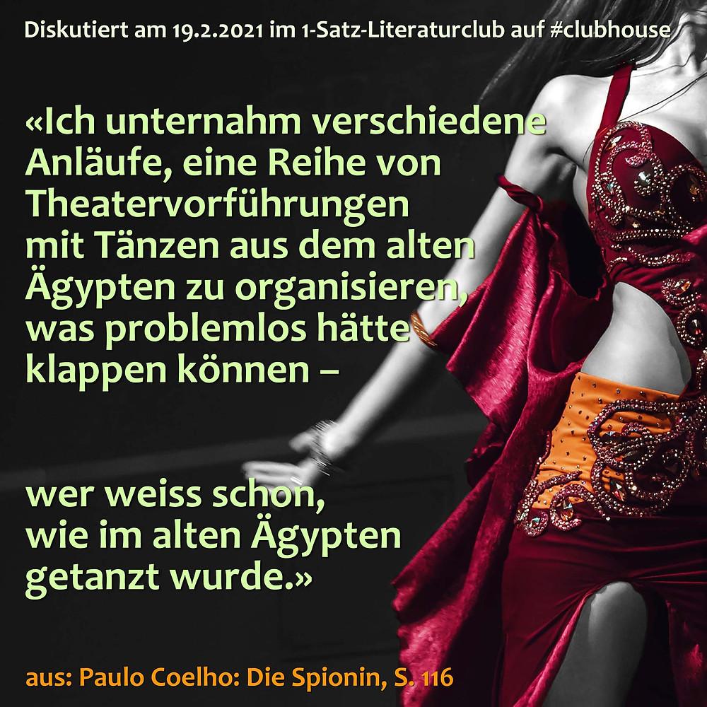 1-Satz-Literaturclub Lakritza Judith Niederberger Paulo Coelho Die Spionin